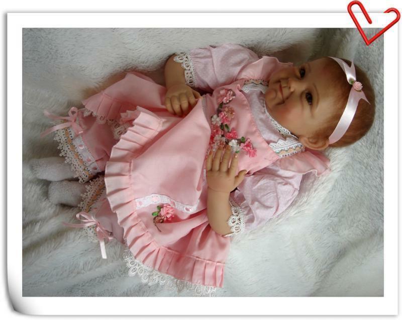 "22"" Baby Dolls Girl Look Real Lifelike Newborn Silicone Dolls"