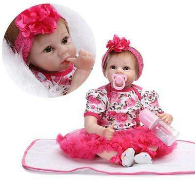 """22"""" Baby Girl Doll Silicone"""