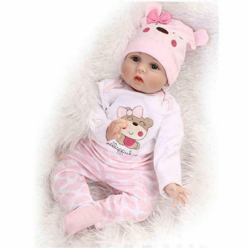 Reborn Baby Doll Realistic Baby Dolls 22'' Vinyl Silicone Ne