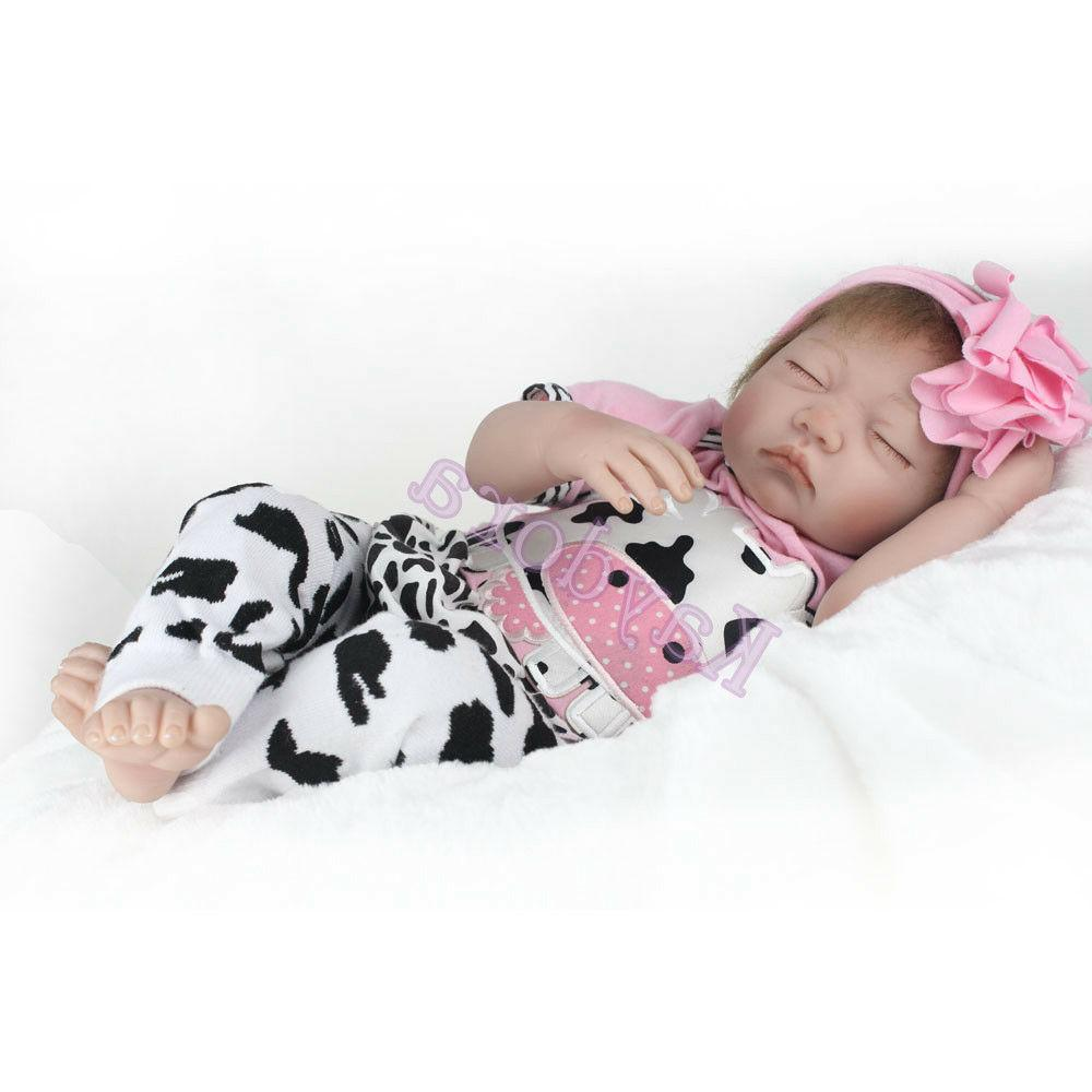 "22"" Handmade Toy Newborn Lifelike Vinyl Sleeping Dolls"