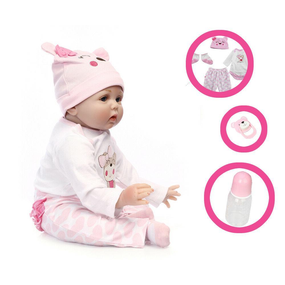 22'' Handmade Vinyl Reborn Baby Doll Newborn Girl Gift