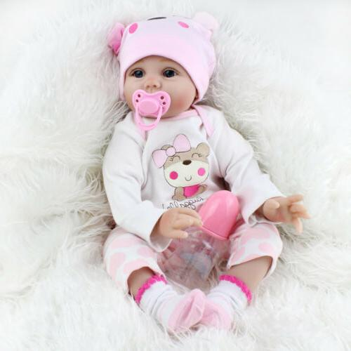 22'' Lifelike Newborn Babies Silicone Vinyl Reborn Dolls Toys
