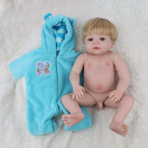 "22"" Reborn Baby Dolls Full Vinyl Silicone"