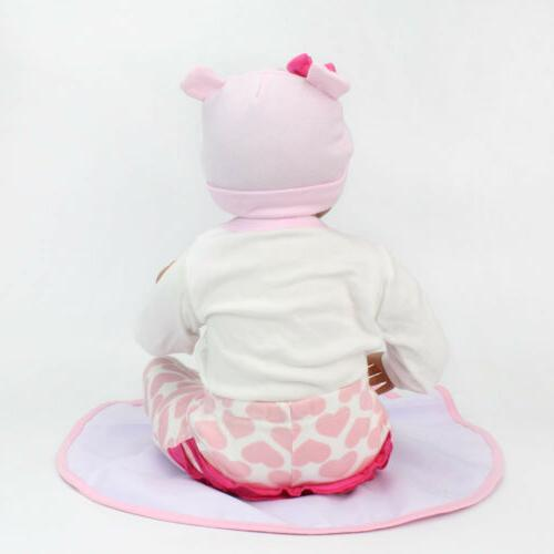 22'' Reborn Baby Realistic Silicone Girl Handmade