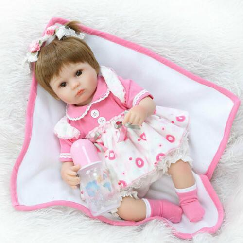 """22"""" Reborn Dolls Lifelike Vinyl Doll Toy"""