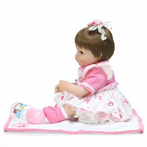 "22"" Reborn Baby Dolls Vinyl Newborn Doll Bebe Gifts Toy Kids"