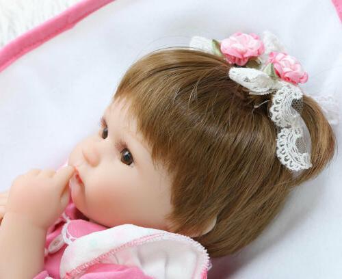 "22"" Baby Dolls Vinyl Newborn Doll Toy"