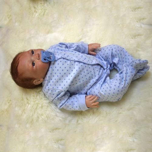 "22"" Reborn Dolls Baby Silicone Vinyl Baby Boy +"
