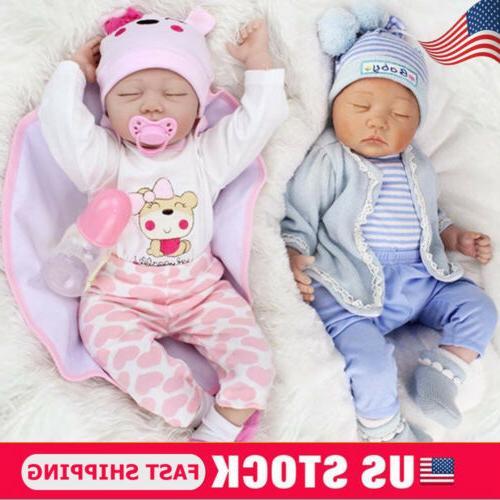 22 twins lifelike newborn babies silicone vinyl