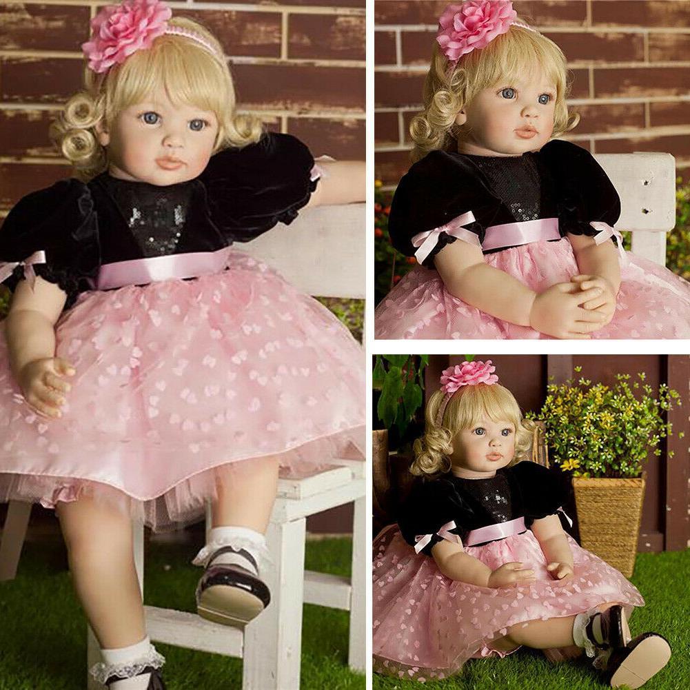 "24"" Big Toddler Soft Reborn Baby Dolls Realistic"