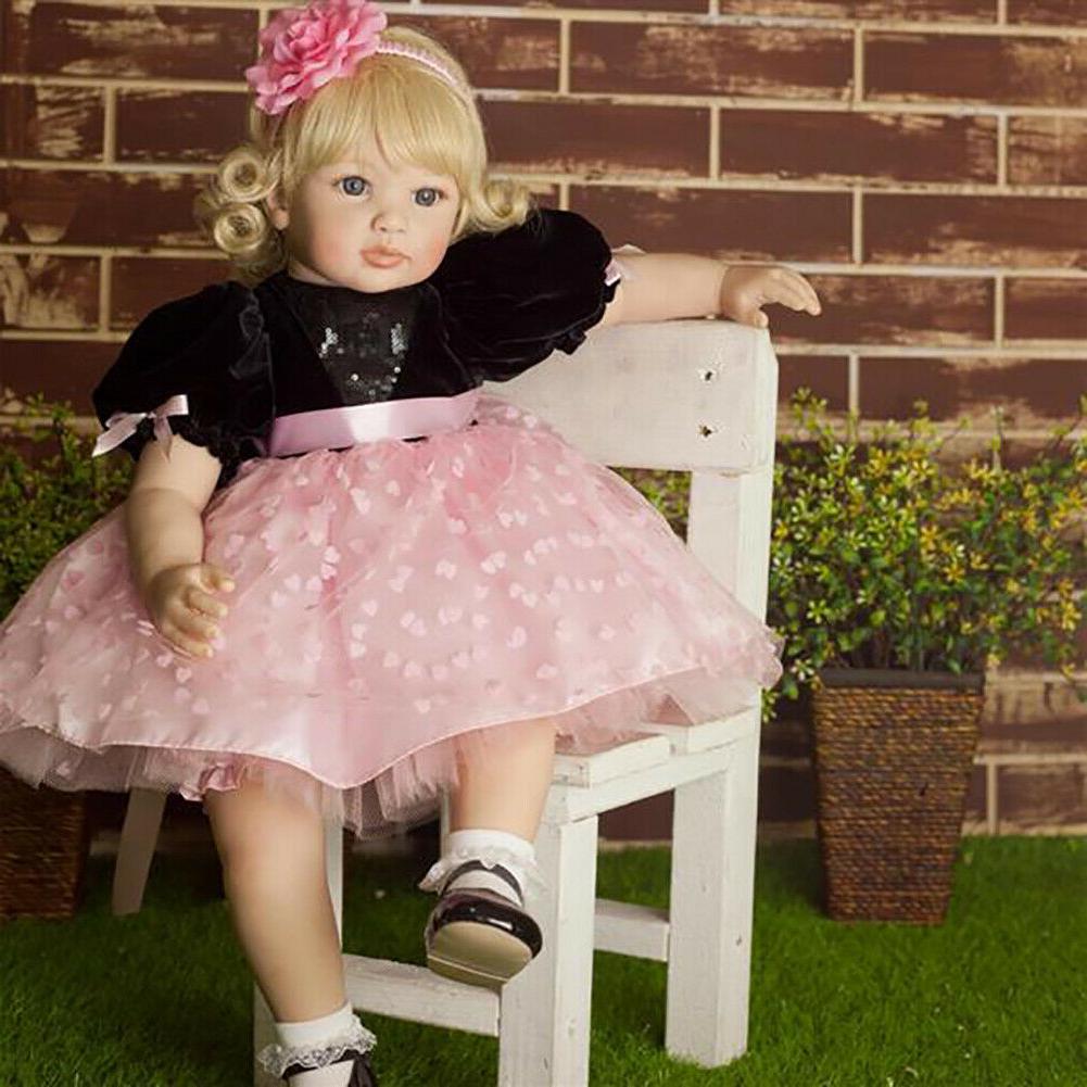 "24"" Big Soft Reborn Dolls Handmade Realistic"