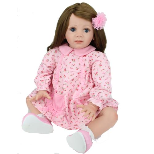 """24"""" Toddler Dolls Handmade Soft Vinyl Silicone Doll Gifts"""