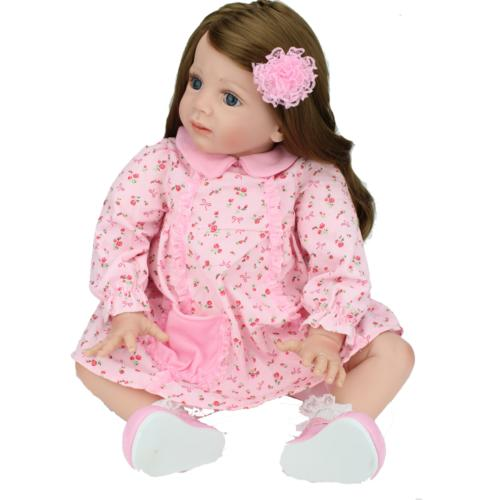 """24"""" Toddler Dolls Handmade Soft Silicone Baby Gifts"""