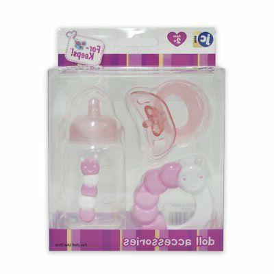 JC Toys JC Toys 3-Piece PINK Accessory Gift Set includes Bot