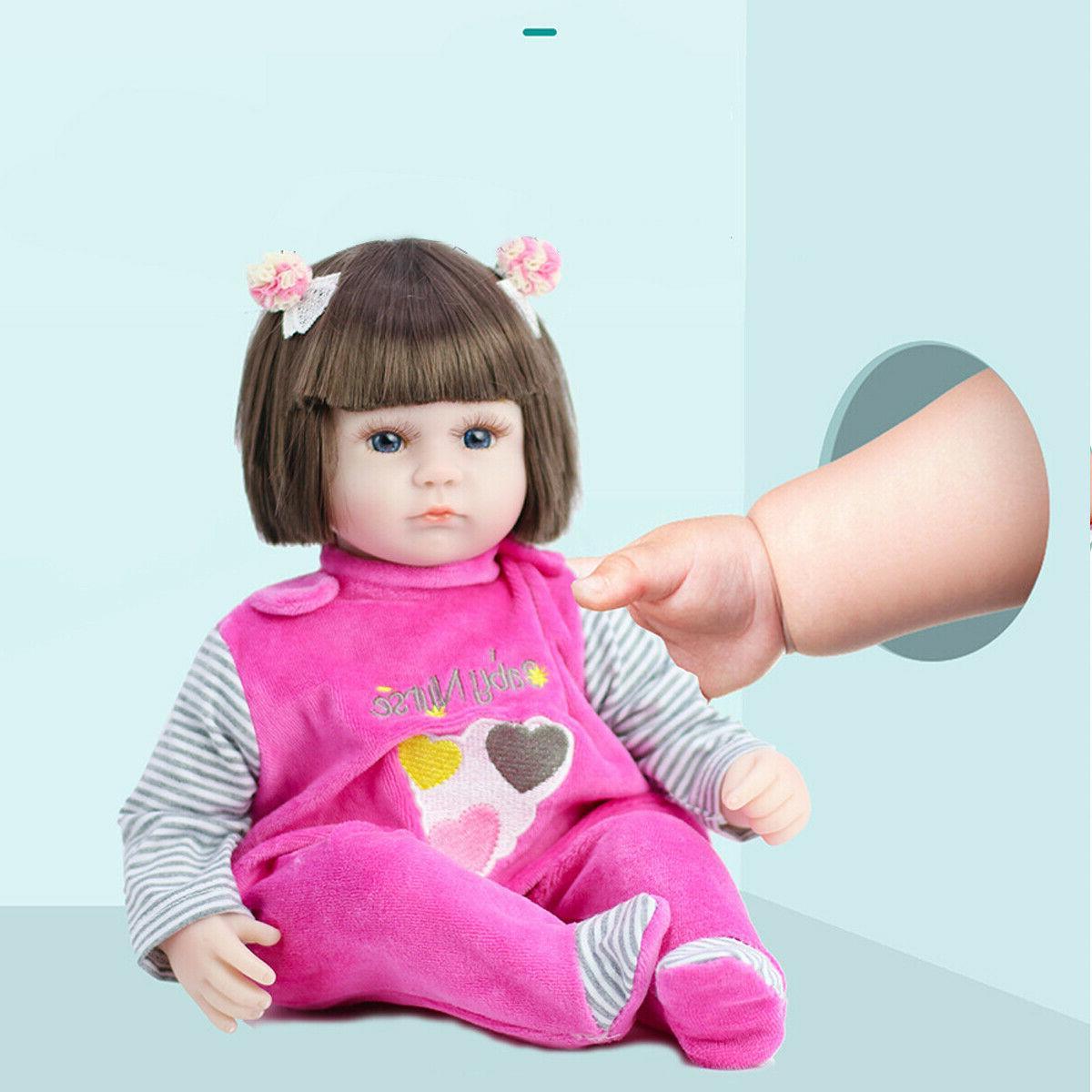 45cm Real Life Newborn Body Vinyl Baby Dolls