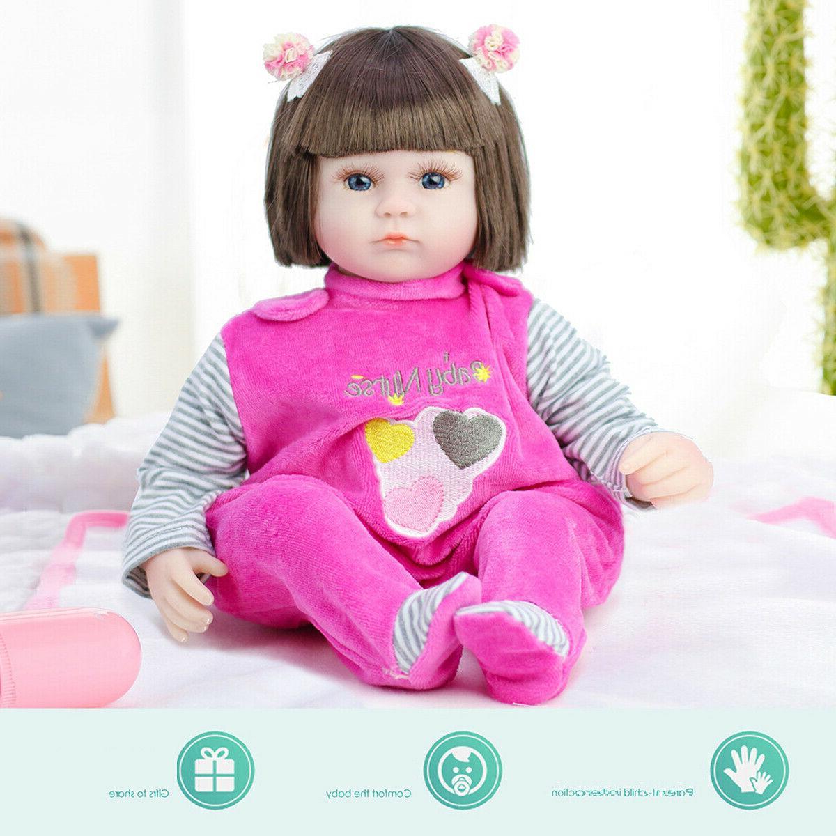 45cm Real Newborn Lifelike Body Vinyl Silicone Dolls