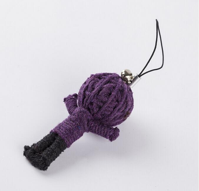 5pcs Style Voodoo <font><b>Doll</b></font> Keychains little <font><b>dolls</b></font> Accessories for gifts