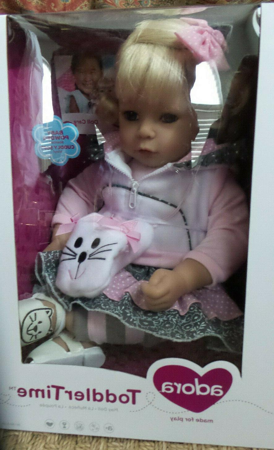 "Adora Toddler The Cat's Meow 20"" Girl Weighted Doll Gift Set"