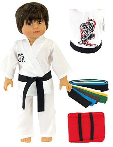 American Fashion World Kickin' Karate Outfit - 18 Inch Doll