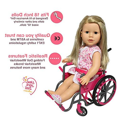 Doll Wheelchair with Accessories 18 Dolls Like Dolls Bonus