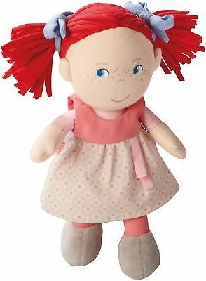 """HABA Soft Doll Mirli 8"""" - First Baby Doll with Red Pigtails"""