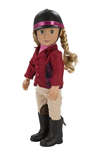 Our Generation Lily Poseable Deluxe Set with Riding Award Ceremony Outfit, Adventure At