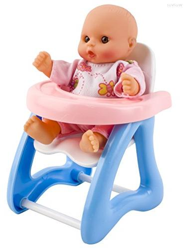 WolVol of Mini Dolls with High Chair, Walker, seat