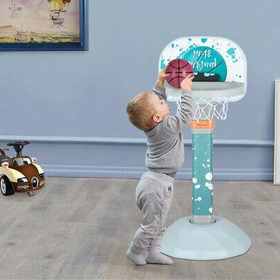 adjustable basketball hoop system kids goal over