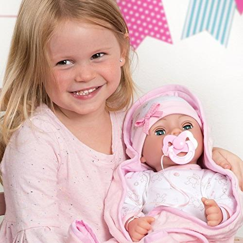 Adora Adoption 16 Inch Newborn Body Baby Doll Gift Set with Close Eyes 3 and