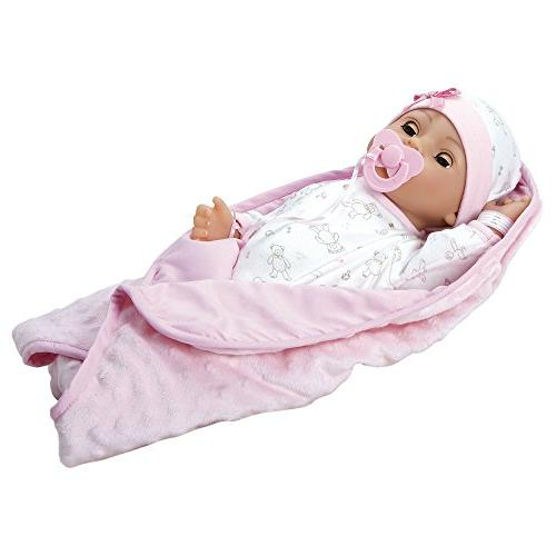 Adora 16 Vinyl Girl Newborn Weighted Body Doll Close Blue Eyes for 3 kids and up