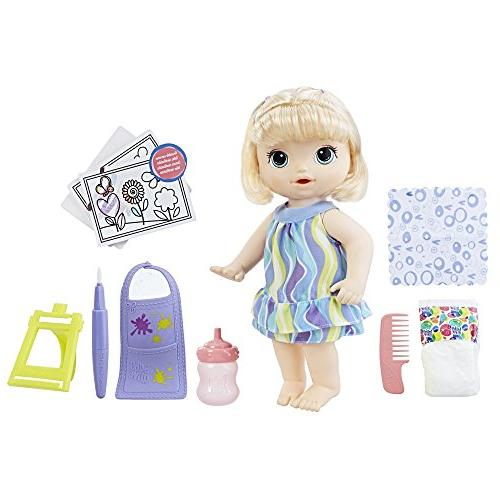 alive finger paint doll set