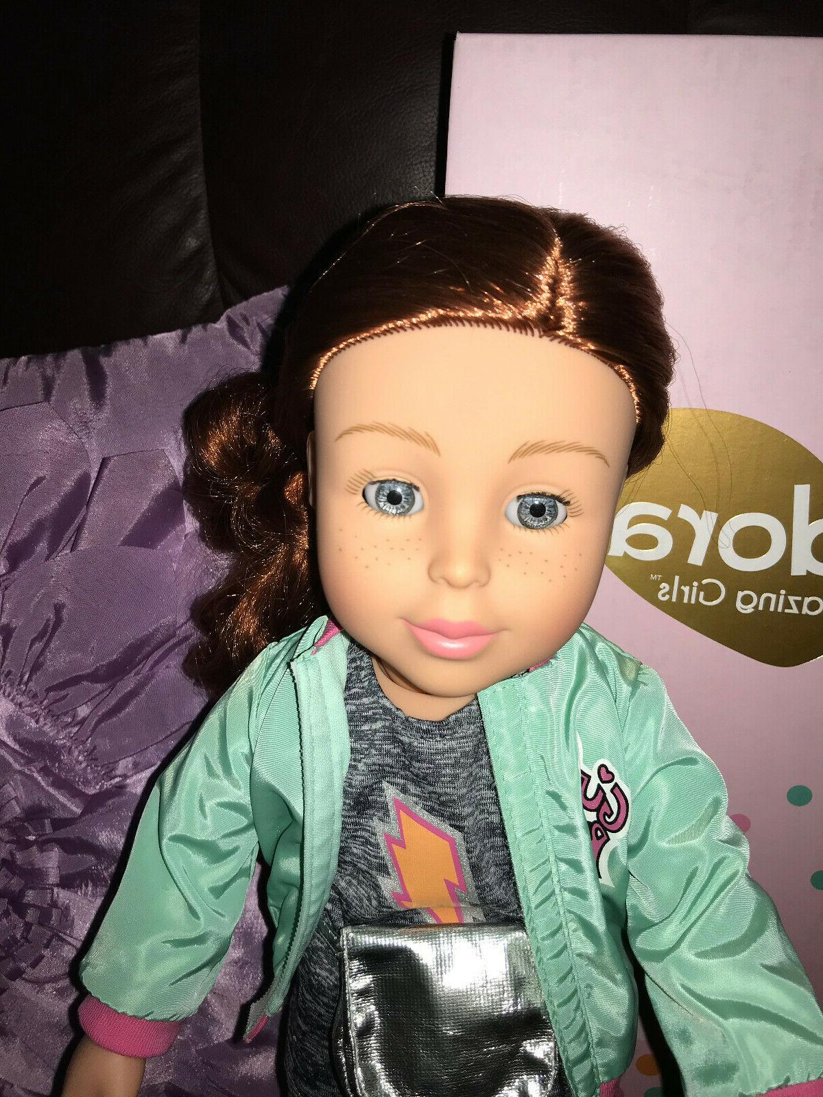 amazing girls 18 inch doll redhead sam