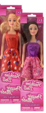 "American Fashion Dolls, 11"". Set of 2 with different clothes"