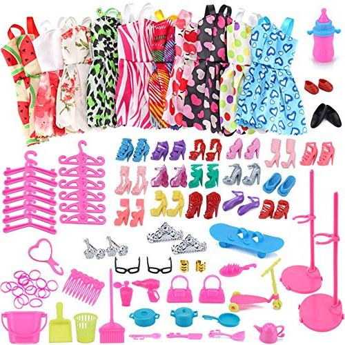 amofiny 1set barbie dress doll
