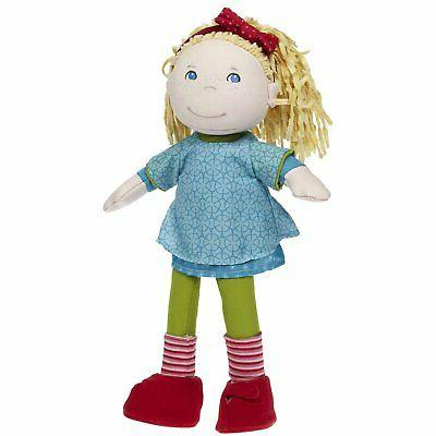 HABA Annie Doll Blue and Embroidered Face