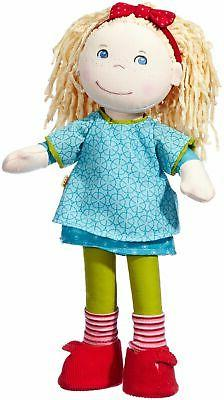 "HABA Annie 13.75"" Soft Doll with Blonde Hair, Blue Eyes and"