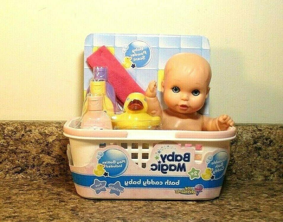 baby magic bath caddy doll and accessory