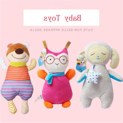 baby plush doll bell toy can enter