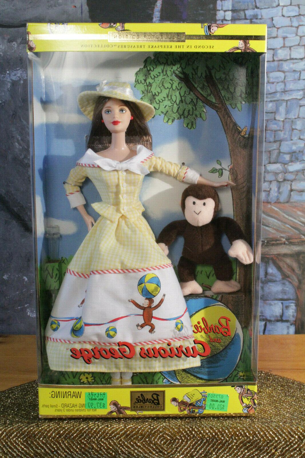 barbie and curious george doll sealed collector