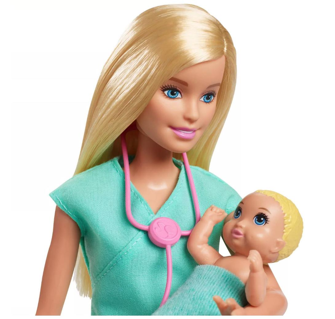 👯💃Barbie Baby 2 Dolls Blonde and