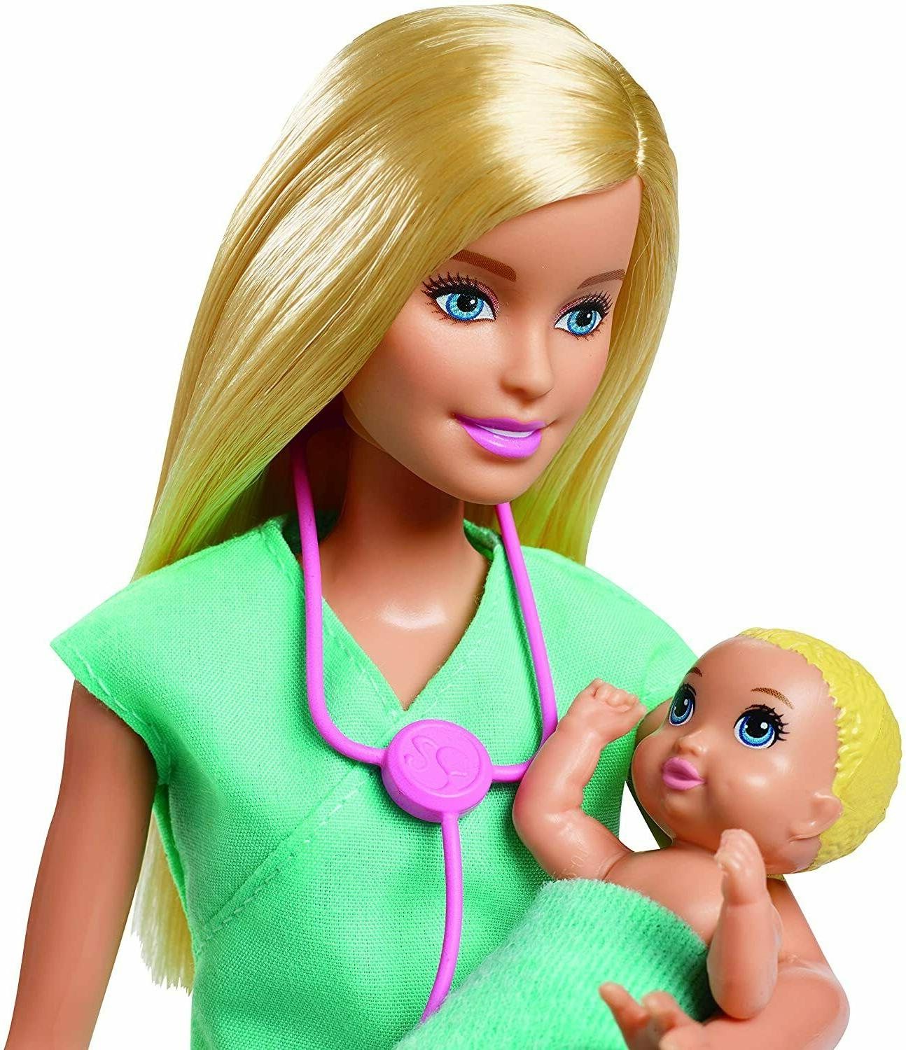 ​Barbie Doctor with Doll, 2 Infant and