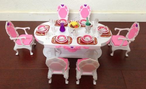 barbie dollhouse furniture dining room