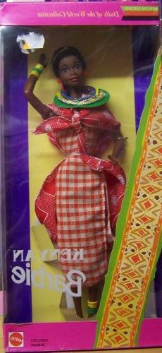 Barbie Dolls of the World Nigerian-Jamaican-Kenyan-Ghanian-L