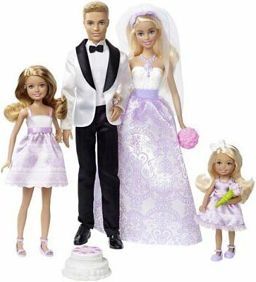 Barbie I Be A Set Exclusive 4 Pack - Barbie, Ken, Stacie