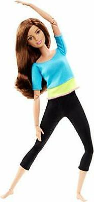 Barbie Made to Move Doll, Blue Top  Blue