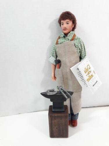 blacksmith 12 inch male doll with accessory