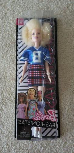 BRAND NEW Barbie Fashionista Doll 91 White Afro Jersey Blue