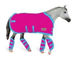 Reeves Breyer Tack Blanket & Shipping Boots - Hot Pink!