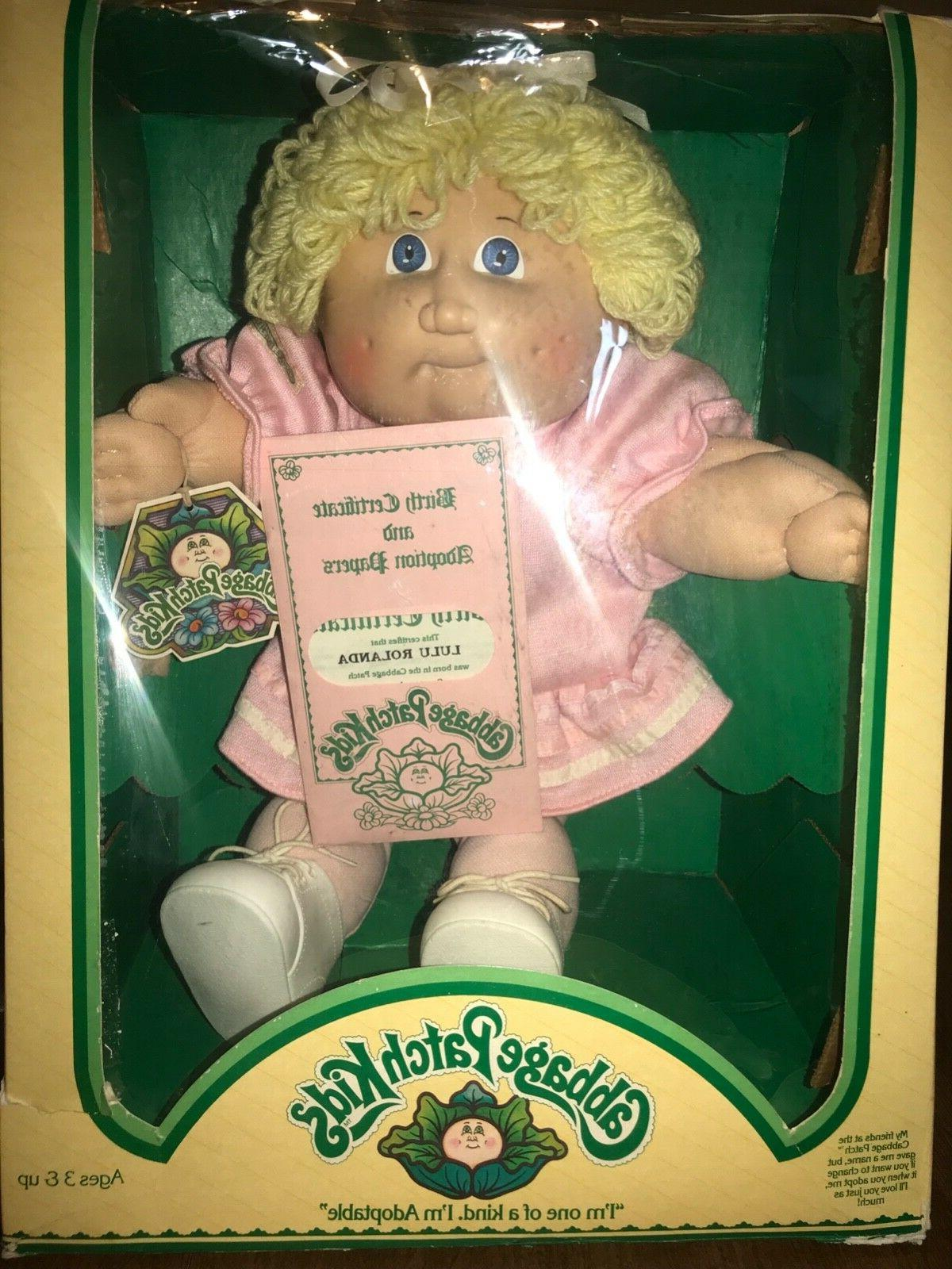 cabbage patch doll girl blond