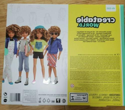 Creatable World Deluxe Kit Customizable Doll, Curly